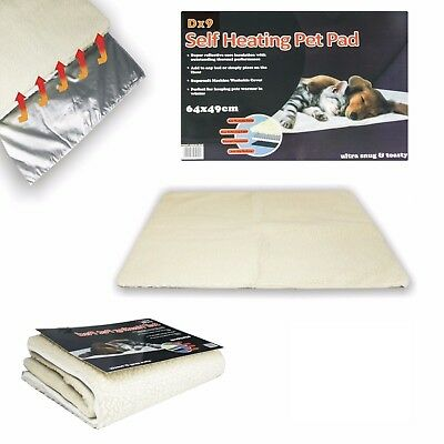 NEW Self Heating Pet Blanket Pad Ideal For Cat/Dog Bed Medium • 5.99£