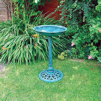 40cm Traditional Pedestal Bird Bath Outdoor Garden Water Weatherproof  • 15.99£