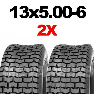 13x5.00-6 Tyres X2 Ride On Mower & Lawn Tractor Turf Tyres 13 X 500 6  FAST POST • 29.90£