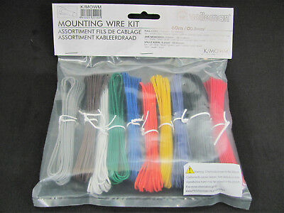 10 Color Mounting/Hookup Wire Kit - 60m - 24AWG Solid Core - Velleman K/MOWM • 10.86£