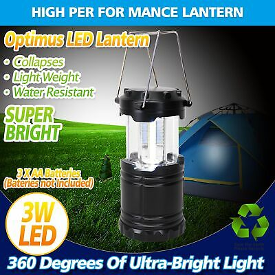 AU18.60 • Buy 2pcs Portable 30 LED Collapsible Camping Lantern Hiking Tent Outdoor Lamp Light