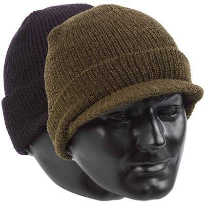 £8.95 • Buy US Army Style Jeep Cap 100% Wool Warm Military Peak Hat - One Size Fits All