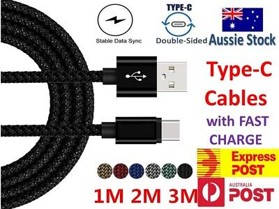 AU4.18 • Buy Fast Charger USB C Type-C Data Cable For Samsung S8 S9 S10 Note 10 Plus A50 A70