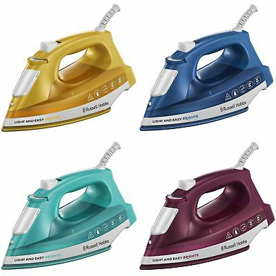 View Details Russell Hobbs 24840 Light & Easy Brights Steam Iron With Ceramic Soleplate 2400W • 19.13£