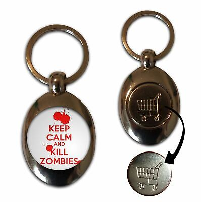 £3.99 • Buy Keep Calm And Kill Zombies - £1/€1 Shopping Trolley Coin Key Ring New
