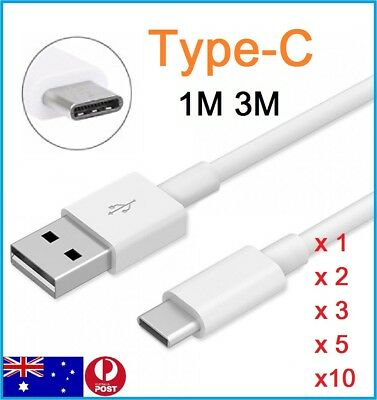 AU5.19 • Buy 1M 3M Type C USB-C Data Charging Cable For Samsung Galaxy S8 S8 Plus OnePlus 2