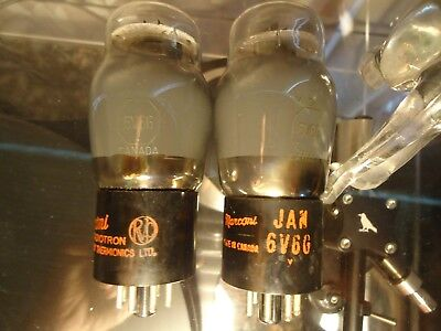 AU228.82 • Buy Marconi Rvc 6v6g Canadian Vintage Old Stock Tested Strong Pair Of Valves Tubes