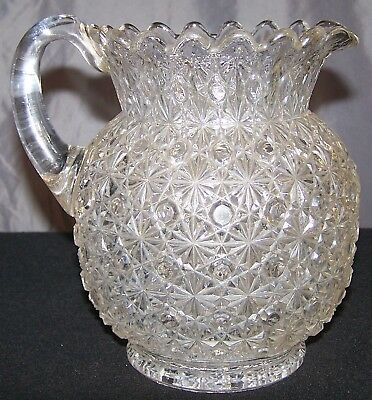 $75 • Buy Antique 19th Century Bryce Brothers Daisy And Button EAPG Glass Pitcher