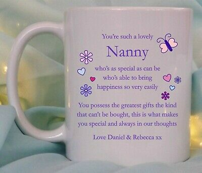 £8.95 • Buy Personalised Special Mum Nanna Sister Auntie Poem Mug Birthday Mothers Day Gift