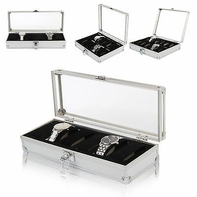 $ CDN22.04 • Buy 6/10/12 Aluminium Leather Watch Display Storage Box Case Tray Watch Collector