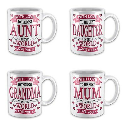With Love To The Best Relative In The World Novelty Gift Mug Variation • 7.99£