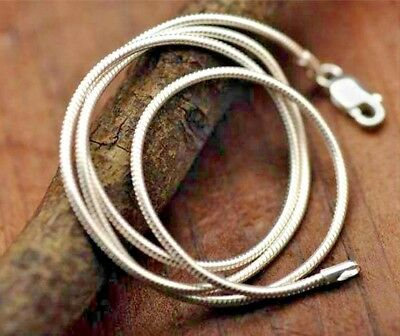 925 Sterling Silver 1mm Snake Chain Necklace Rope Pendant 16 18 20 22 24  UK • 2.99£