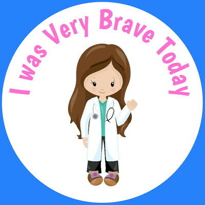 Brave For The Nurse Doctor  Paramedics Hospital Gloss Childrens Stickers • 2.40£