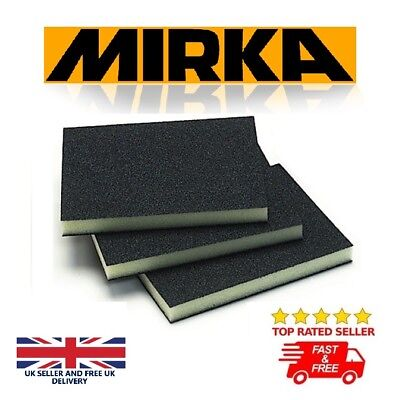 Mirka Sanding Pad Soft Foam Sponge Fine Medium Coarse Grit - 120x98x13mm Quality • 5.59£