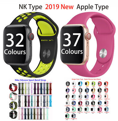 Silicone Sport Wrist Band Strap Replace For Apple Watch IWatch Series1-5 All Lot • 2.79£