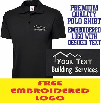 £10.99 • Buy Personalised Embroidered Builder Polo Shirt BUILDING & CONSTRUCTION Work Logo