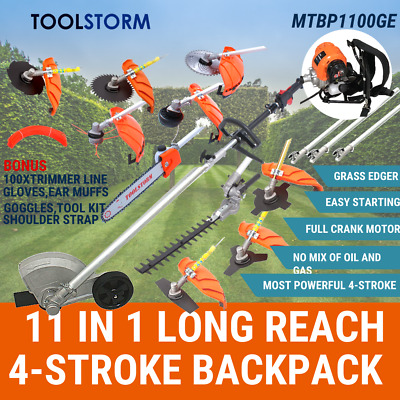 AU499 • Buy 4-STROKE Backpack Chainsaw Hedge Trimmer Grass Edger Brush Cutter WhipperSnipper