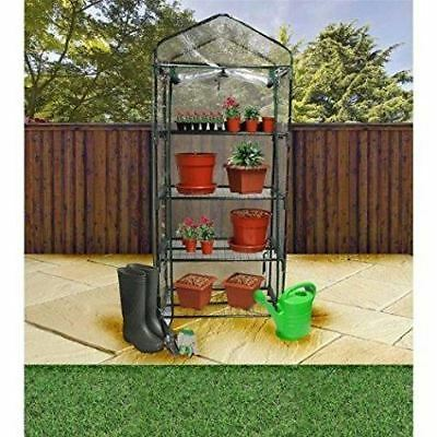 Constructed Greenhouse With Cover Removable 4 Tier Shelves Plant Protection New • 21.99£