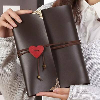 30 Page Photo Album Leather Scrapbook Gifts Vintage Albums 120pcs Travel Holiday • 10.25£