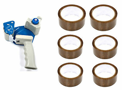 £7.59 • Buy Sellotape Dispenser Gun Heavy Duty Weight COMING WITH 6 ROOL OF TAPES Easy Use