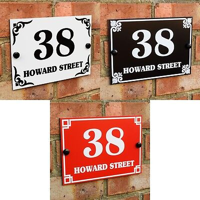 House Door Gate Number Plaque Wall Sign Name Plate Aluminium • 7.95£