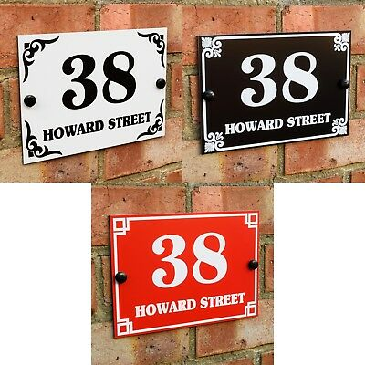 £7.95 • Buy House Door Gate Number Plaque Wall Sign Name Plate Aluminium