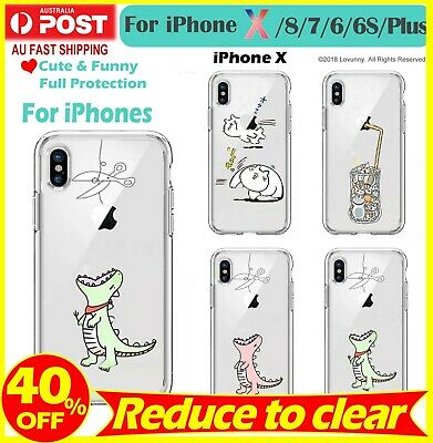 AU9.99 • Buy IPhone X XS Max XR 8 Plus 7 6 Case Cartoon Cute Animal Clear Bumper Print Case