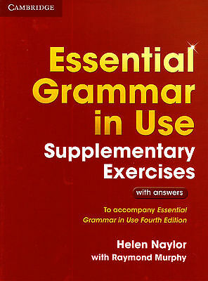 £14.94 • Buy Cambridge ESSENTIAL GRAMMAR IN USE SUPPL EXERCISES W ANSWERS For FOURTH Edit NEW