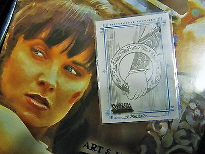 XENA* WARRIOR PRINCESS* ARTS & IMAGES*  ARM In CHAKRAM  Card HAND DRAWN MINT!! • 5.87£
