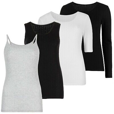 £4.99 • Buy Marks & Spencer Womens Thermal Pointelle Tops Vests Bottoms New M&S Underwear