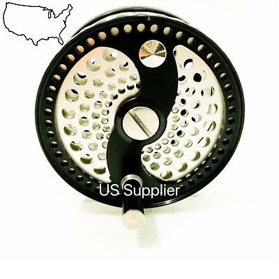 $ CDN116.43 • Buy FMO Fly Reel SALE!!  Classic Click Drag CNC Machined Mid Arbor Full Cage 5/6wt