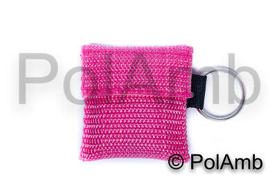 CPR Face Shield Mouth To Mouth Resuscitation Paramedic Medic Nurse EMT PINK • 2.95£