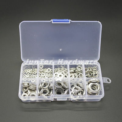 $6.99 • Buy High Quality 260pcs M2.5-M10 A2 SS Spring Washer Flat Washer Assortment NO.W001