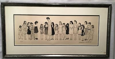$ CDN3800.19 • Buy Norman Rockwell  Spelling Bee  Framed Signed Lithograph Print 17 X 35