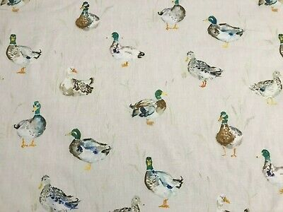 Voyage  Mini Paddling Ducks  White Background Fabric | REDUCED CLEARANCE PRICE • 12.95£
