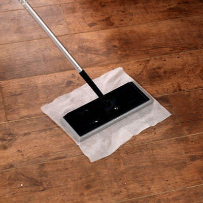 2 X Electrostatic Static Wooden Floor Duster Cleaning Mop & 20 Refills Wipes • 14.48£