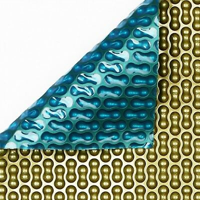 24ft Round Geo-Bubble Gold/Jade 500 Micron Swimming Pool Solar Cover • 454.08£