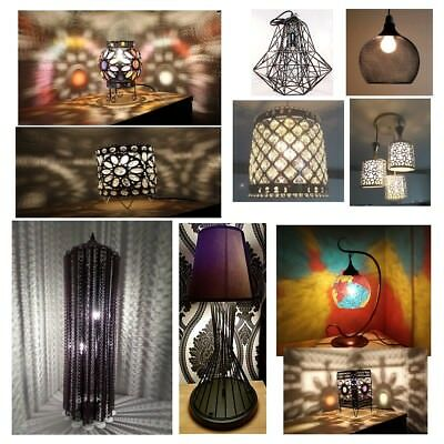 Bargain Corner Inspired Styles Exclusive Moroccan Turkish Table Lamp Ceiling  • 39.60£