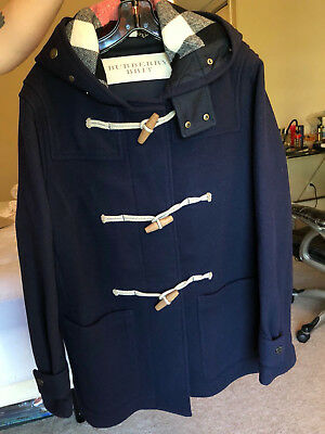 $1200 • Buy Mens Navy Blue Burberry The Greenwich Duffle Coat, L, Used Once. Perfect!