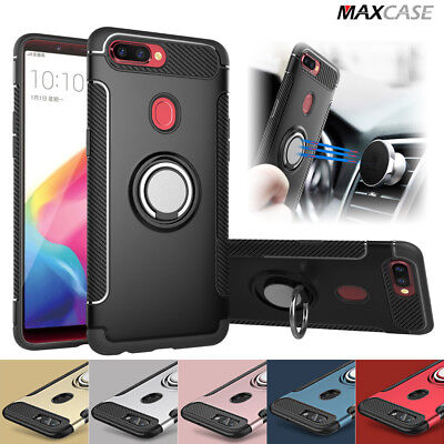 AU7.99 • Buy For Oppo A73 AX5 R15 Pro Dual Layer IRing Hard Back Magnetic Circle Case Cover