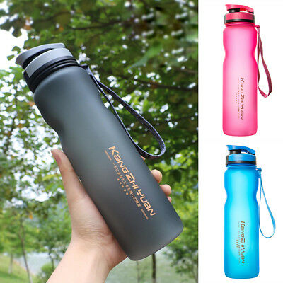 AU15.74 • Buy 1L Outdoor Sports Drinking Water Bottle BPA Free Leak-Proof Cycling Training Cup