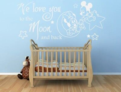MICKEY MINNIE MOUSE BABY DISNEY CHILDRENS KIDS Vinyl Wall Art Stickers Decals • 8.99£