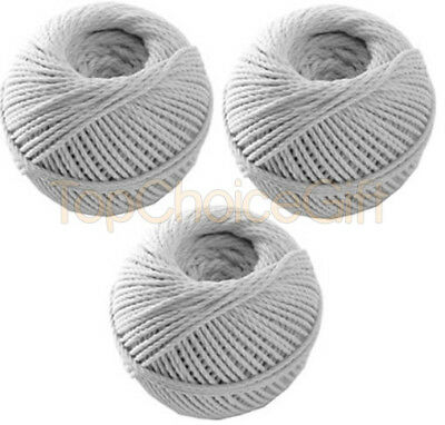 30 Roll Balls - White Cotton String Thread Rope Roll Twine Decoration Craft Gift • 4.99£