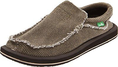 Men's Sanuk Chiba Sidewalk Surfer Shoe, SMF1047 Sizes 10-11 Brown Textile  • 50.96£
