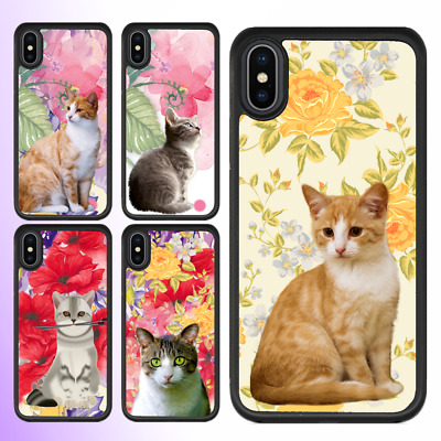 AU11.99 • Buy IPhone X 8 8 Plus 7 6 6s SE 5 Case Cute Cat Kitty Pussy Bumper Shockproof Cover