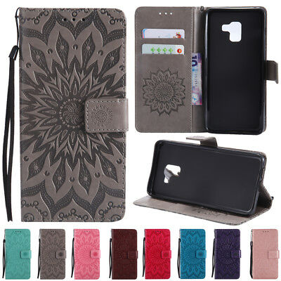 $ CDN6.74 • Buy For Samsung Galaxy A8 2018 S9 Plus Magnetic Slots Leather Wallet Flip Case Cover