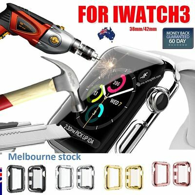 AU8.34 • Buy Apple Watch Slim Screen Protector Case For38&42mm Cover IWatch Series1 2 3 4 5