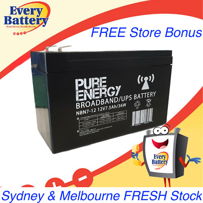 AU29.95 • Buy Pure Energy NBN Battery 12V 7Ah AGM