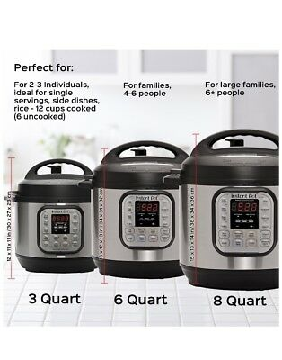 $105 • Buy  Instant Pot DUO60 6 Qt 7-in-1 Multi-Use Programmable Pressure Cooker, Slow Cook