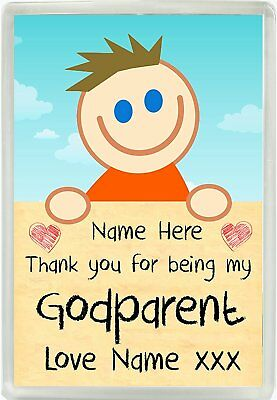 £4.50 • Buy Personalised Boys Thank You For Being My Godparent Magnet Christening Gift 833